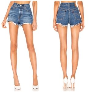 Levi's 501 Denim Jean Shorts Indigo Avenue